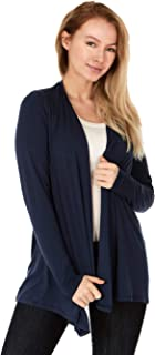 X America Long Sleeve Knit Open Front Cardigans for Women, Junior and Plus Size, Made in USA