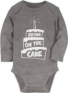 Tstars - Cute Birthday - Bring On The Cake Baby Long Sleeve Bodysuit