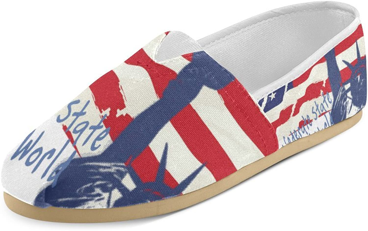HUANGDAISY Unisex shoes Statue of Liberty Casual Canvas Loafers for Bia Kids Girl Or Men