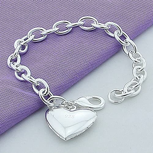 925 Sterling Silver Forever Heart Charlotte Mall Charm Bracelet Fashion Pendant Dealing full price reduction