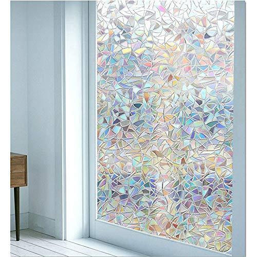 N / A 3D window film, privacy film, heating control, anti-ultraviolet self-adhesive static window lamination, glue-free glass window film, home, office home decoration film A28 50x100cm