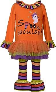Girl's Halloween Spooktacular Applique Tutu Shirt and Leggings Set