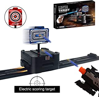 Electric Scoring Auto Reset Shooting Digital Target for Nerf Guns, Targets for Nerf Guns Blaster N-Strike Elite/Mega/Rival Series Ideal Gift Toy for Kids, Teens, Boys & Girls(Move Targets 1.0)