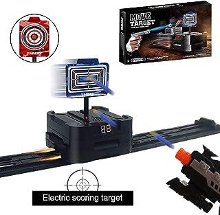 Fibevon Direct Electric Scoring Auto Reset Shooting Digital Target for Nerf Guns, Targets w/Auto Round Trip Rail Tracks for Nerf Guns Blaster N-Strike Elite/Mega/Rival Series