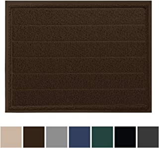Gorilla Grip Original Durable Indoor Door Mat, 47x35, Large Size, Heavy Duty Doormats, Commercial Waterproof Stripe Doormat, Easy Clean, Low-Profile Mats for Entry, Garage, High Traffic Areas, Brown