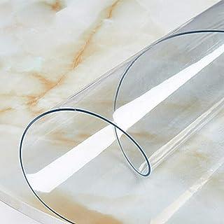 Nappe Transparente En PVC Imperméable Nappe Film Écologique Protection De Table Ronde Ou Rectangulaire, Protection Table O...