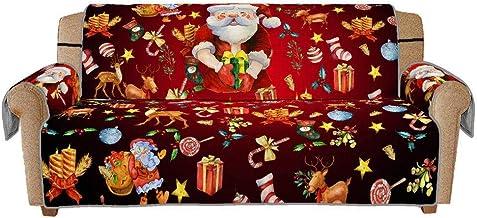 YAALO Sofa Kussen Kerst Sofa Cover, Wasbare Stoelhoezen Voor 3 Zitplaatsen Anti-Slip Stoel Slipcover Slipcover Duurzame Me...