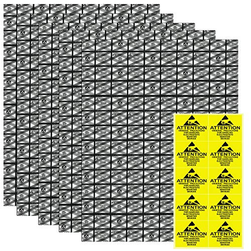 KBNIAN 20 pcs Bolsas Antiestáticas Bolsas de Protección ESD 30*40 cm con 20 pcs Pegatinas de Advertencia Bolsas de PE para Proteger Discos Duros/ Placa Base/ Componentes Electrónicos/ Hardware