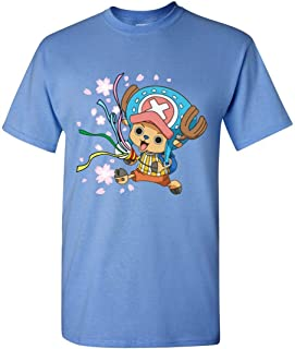 Anime T-shirt Chopper Super Cute One Piece Carolina Blue