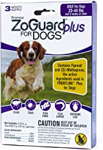 ZoGuard Plus Flea and Tick Prevention for Dogs, Medium 23-44 lbs, 3 Months, 3 Doses