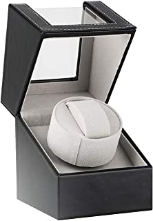 Advanced Automatic Watch Winder Box,Ultra-Quiet Rotation Watches Winding Case Powerd by Janpanes Quiet Motor,2 Rotation Mode Setting, Fit Lady and Man