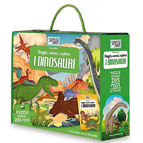I dinosauri. Viaggia, conosci, esplora. Libro puzzle. Ediz. illustrata. Con puzzle