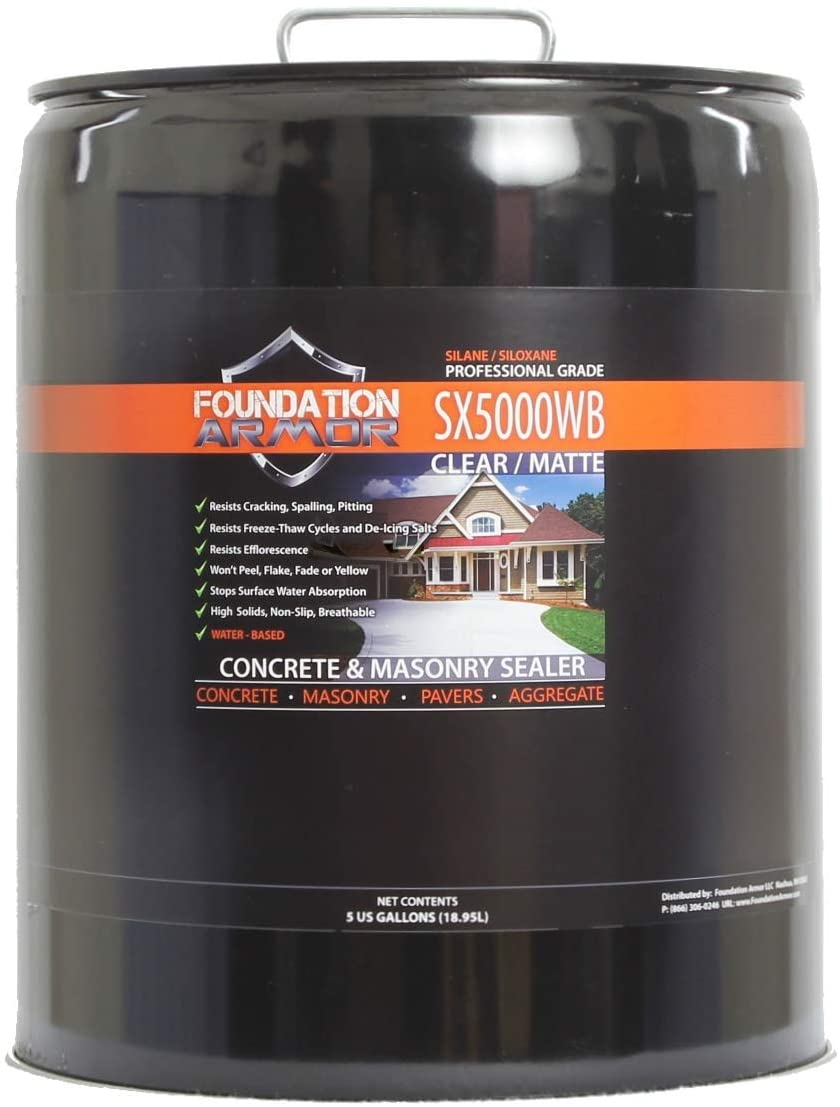 5-Gal. SX5000 WB Chicago Mall DOT Approved OFFicial site Siloxane Penetr Silane Water Based