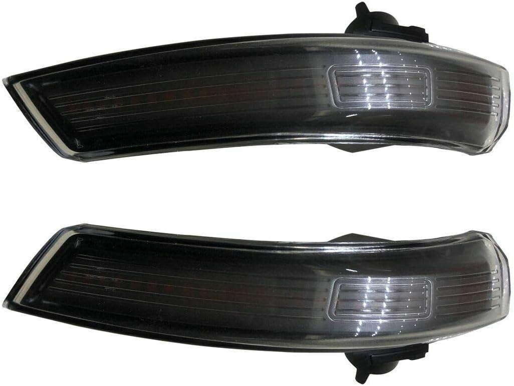 1 Paar Dynamic Smoked Led Blinker Licht Spiegel Indikator Ersatz Für F Ord F Ocus 08 16 Black Auto