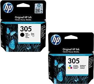 HP 305 Black Original Ink Cartridge (1) + HP 305 Tri-color Original Ink Cartridge(1)
