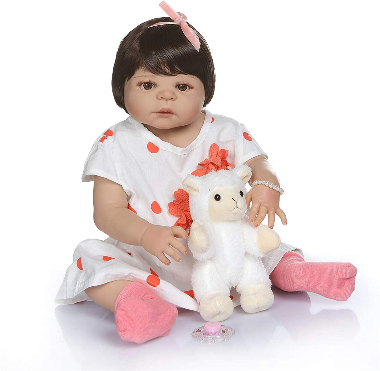 Zero Pam Reborn Dolls Full Body Silicone Washable 23 Inch 58cm Lifelike Reborn Baby Doll Realistic Baby Girls Doll
