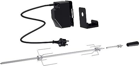 tepro universaler Grillspieß Set mit Motor, Netzbetrieb, 10 x 95 x 12 cm, silber/schwarz, 8591