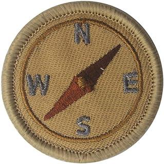 Parches para planchar YA-Uzeun con diseño de American Boy Scout, parches para ropa bordados, verde, compass