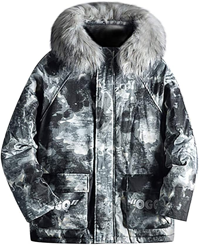 Hmlai Clearance Mens Lightweight Hooded Jacket Casual Camouflage Patchwork Waterproof Thin Autumn Coat Big /& Tall Sizes