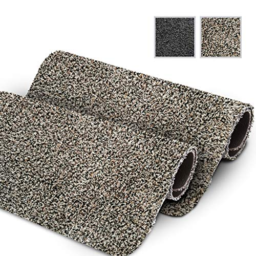 GadHome wasserabsorbierende Fußmatte, Granit 40 cm x 60 cm | Fußmatte für innen und außen | rutschfeste, waschbare, schnell trocknende Haustürmatte aus weicher Baumwolle für Innen und Außen