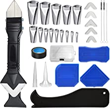 31 stuks siliconen kitset, 3 in 1 kitgereedschap, plastic schraper, kitverwijderaar, breeuwen Finisher sproeiers, breeuwge...