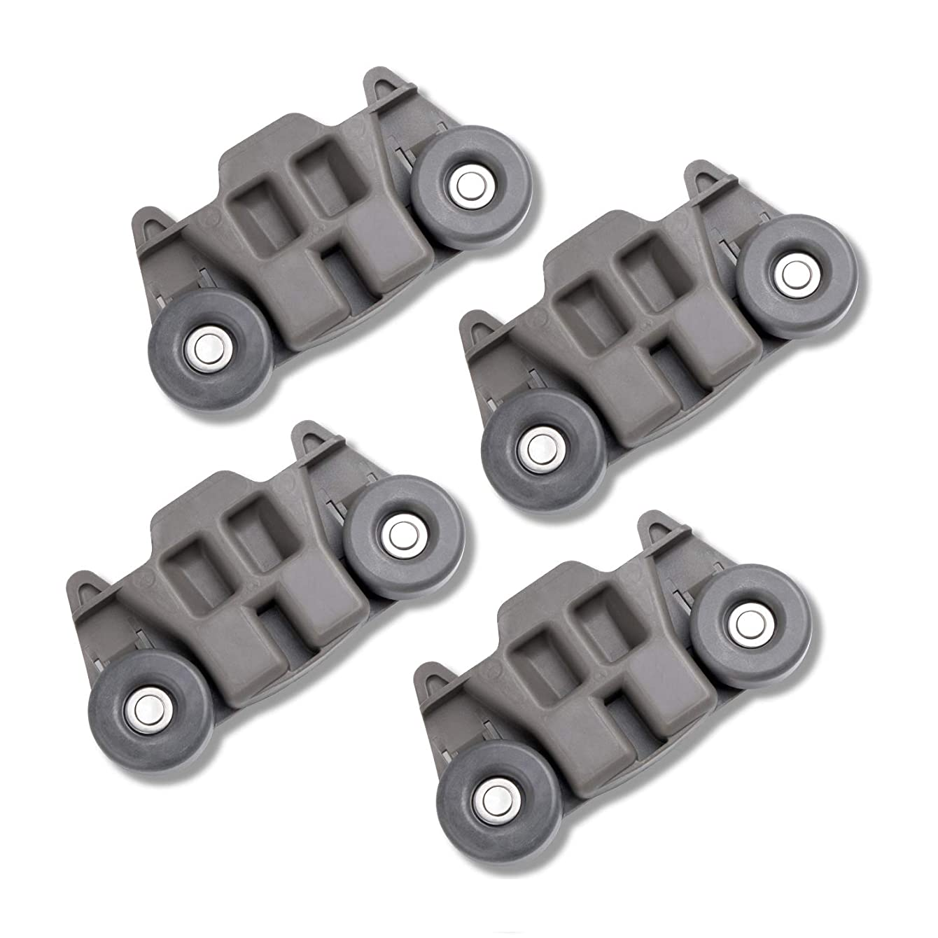 Upgraded W10195416 Dishwasher Lower Rack Wheel Assembly by Hosom, 4pcs Dishrack Roller Replacement Parts Compatible with Kenmore Whirlpool Dishwasher | Replaces for W10195416VP/W10195416V/PS11722152