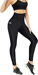 Nebility Women Workout Capri Leggings High Waist Sports Tights Tummy Control Slim Skinny Pants