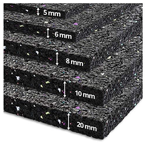etm Alfombra Lavadora - Alfombrilla antivibración | Suelo Lavadora Ultra Resistente | Goma granulada | Aislante de Ruido y Movimiento | 3 densidades (60x60 cm)
