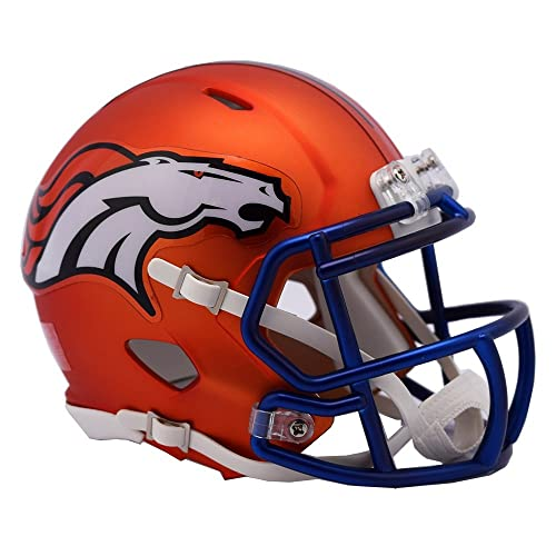 NFL Denver Broncos Alternate Blaze Speed Mini Helmet
