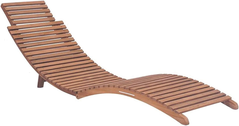 QWSX Mesas y sillas de Exterior Playa Silla de diseño de Rejilla de la Cubierta de Madera de Teca con sillas Ajustables Respaldo tumbonas de jardín for Camping Balcón Ocio y Entretenimiento