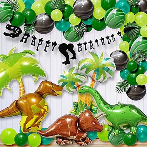 恐竜 誕生日 パーティー 装飾品 誕生日 飾り付け セット 子 供のための誕生日パーティー用品 HAPPY BIRTHDAY バナー ラテックスバルーン アルミホイル 風船 恐竜テーマのパーティーの装飾