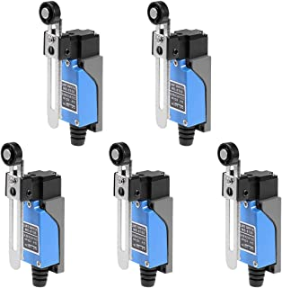 uxcell ME-8108 Adjustable Roller Lever Arm Momentary Limit Switch 1NC 1NO 5Pcs