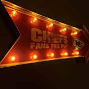 FOCO NFL Light Up Arrow Marquee Sign