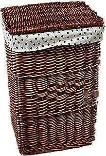 Panier de rangement Paniers de stockage en osier faits à la main, paniers à la maison décoratifs de corbeilles de stockage...