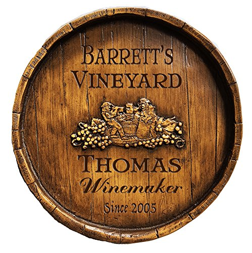 Piazza Pisano Wine Makers Wine Barrel Personalized Sign