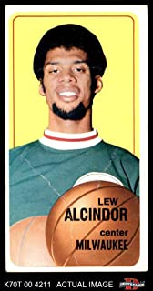 1970 Topps # 75 Lew Alcindor Milwaukee Bucks (Basketball Card) Dean's Cards 2 - GOOD Bucks