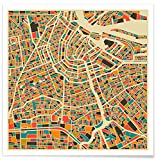 Juniqe® Stadtpläne Amsterdam Poster 20x20cm - Design