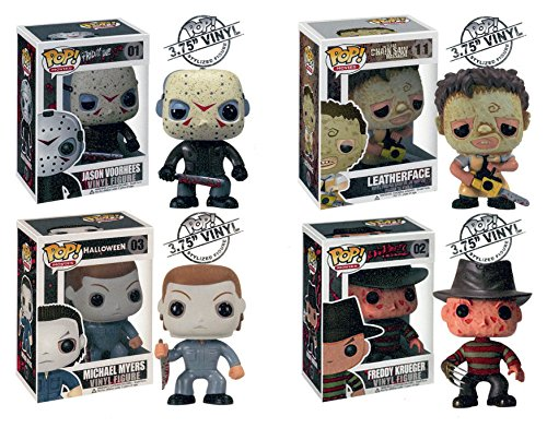 Funko Pop. Horror Movies – Vinyl Figures – Set of 4 (Freddy, Jason, Michael Myers & Leatherface) by Funko