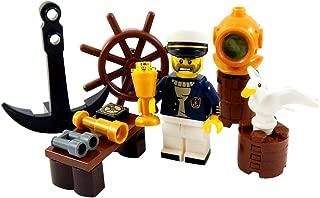 LEGO Salty Sea Captain with Bird, Anchor, Telescope, and More! - Custom Sailor Minifigure