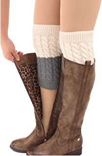 cream colored boot cuffs