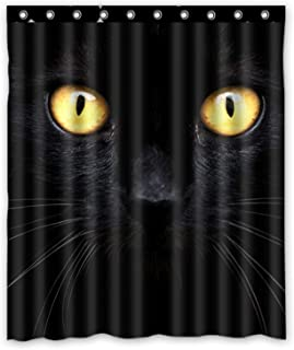 KXMDXA Black Cat in the Dark Waterproof Polyester Bath Shower Curtain Size 60x72 Inch