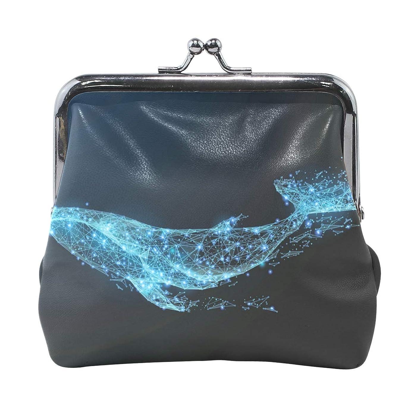 寺院キロメートルに渡ってがま口 財布 口金 小銭入れ ポーチ クジラ 海 動物 水中 サメ 魚 可愛い ANNSIN バッグ かわいい 高級レザー レディース プレゼント ほど良いサイズ
