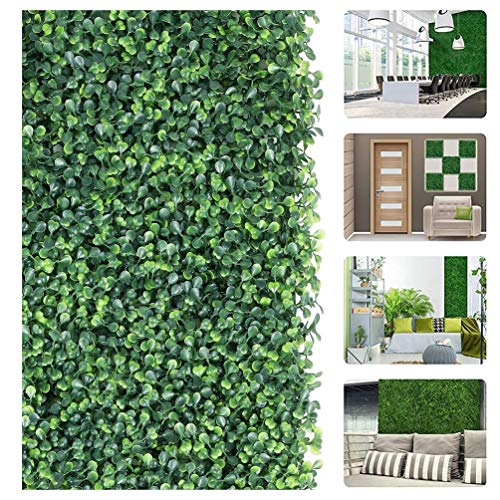 LYRWISHJB 60 * 40cm Artificial Boxwood Panels Privacy Synthetic Balcony Fencing Ivy Fence Wall Home Garden Outdoor Decoration (Size : 3pcs)