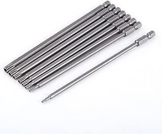 Destornillador torx largo 8pcs 150 mm Bits S2 Destornillador estrella magnético Shank acero vástago Bits Set