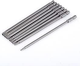8pcs punte lunghe del cacciavite di Torx di 150mm S2 acciaio legato Shank esagonale punte di cacciavite di stelle magnetiche messe