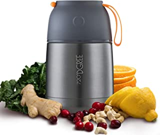 720°DGREE Boîte Alimentaires Isotherme wunderJar – 450ml, 650ml | Premium Bouteille Thermo Acier INOX| sans BPA