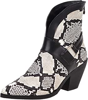 Melady Women Classic Western Booties Block High Heels