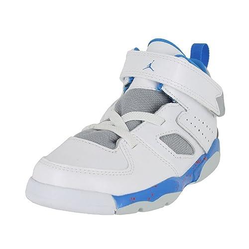 1f7776515e3009 Jordan Toddler Flight Club 91 (TD) White Blue Wolf Grey Orange Size 9