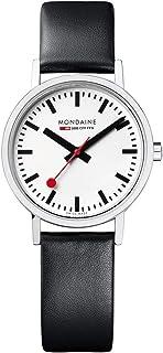 Mondaine - Classic- Reloj de Cuero Negro para Mujer, A658.30323.11SBB, 30 MM