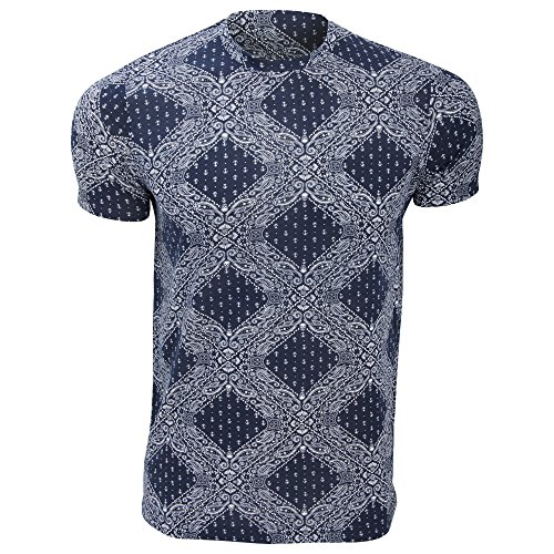 Brave Soul Maxwell - T-shirt à manches courtes - Homme (L) (Bleu marine)
